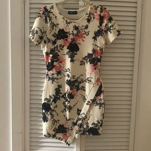 Fabric Floral mini dress